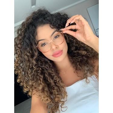 Armação de óculos de grau - Jasmine - Dourado Mesclado Transparente