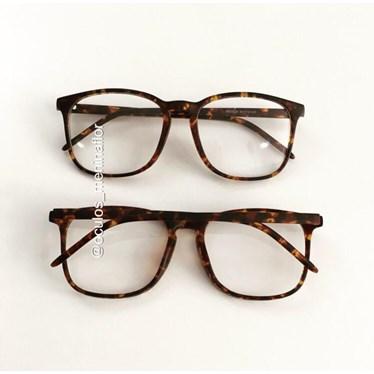 Armação de óculos de grau - Jasmine Fer 3038 - Animal print fosco