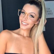 Armação de óculos de grau - Jasmine Fer 3038 - Dourado transparente
