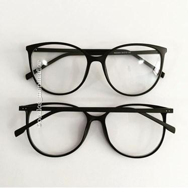 Armação de óculos de grau - Jasmine - Preta Fosca
