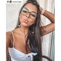 Armação de óculos de grau - Jasmine - Preto Fosco