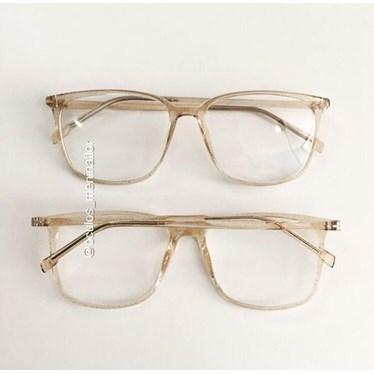 Armação de óculos de grau - Jasmine quadrada - Dourada Glow
