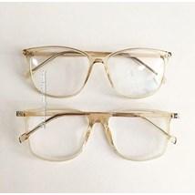 Armação de óculos de grau - Jasmine quadrada - Dourada Transparente