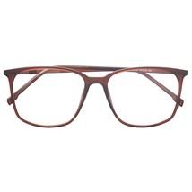 Armação de óculos de grau - Jasmine quadrada - Marrom fosco