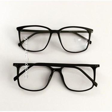 Armação de óculos de grau - Jasmine quadrada - Preto