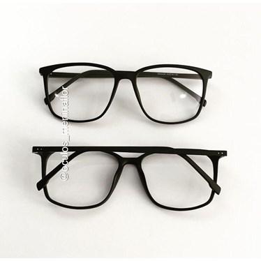 Armação de óculos de grau - Jasmine quadrada - Preto fosco