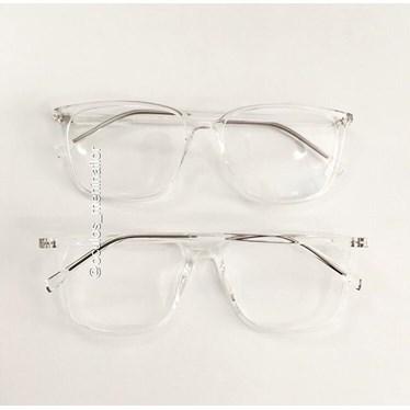 Armação de óculos de grau - Jasmine quadrada - Transparente