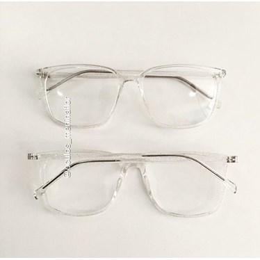 Armação de óculos de grau - Jasmine quadrada - Transparente Glow