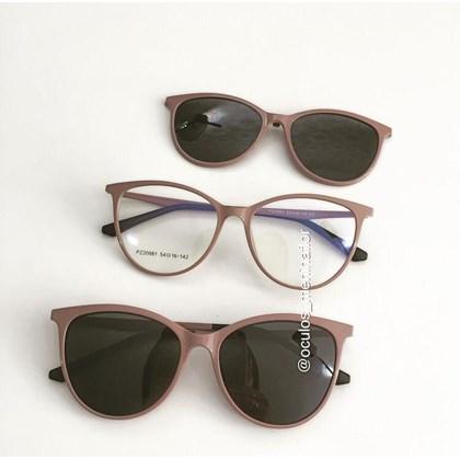 Armação de óculos de grau - Jasmine two - Nude Chocolate lente preta