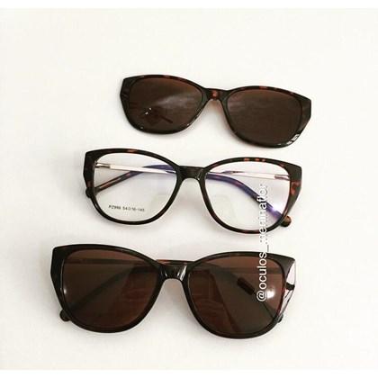 Armação de óculos de grau - Julieni 996 - Animal print lente marrom