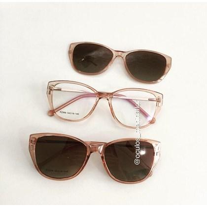 Armação de óculos de grau - Julieni 996 - Rose transparência lente marrom