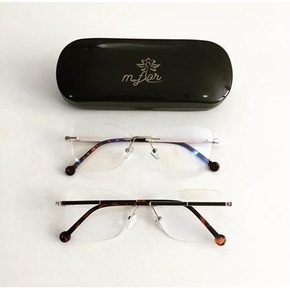 Armação de Óculos de Grau - Juliette 3 pontos - Animal print com dourado