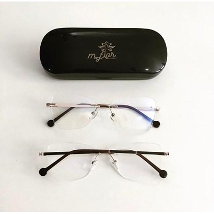 Armação de Óculos de Grau - Juliette 3 pontos - Preto com dourado