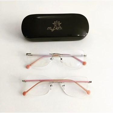 Armação de Óculos de Grau - Juliette 3 pontos - Rose com prata