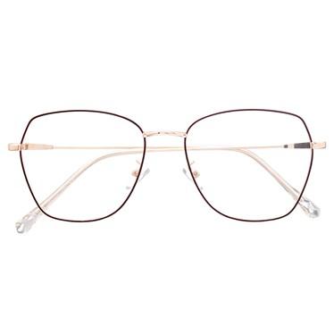 Armação de óculos de grau - Kiara - Marrom com dourado C5