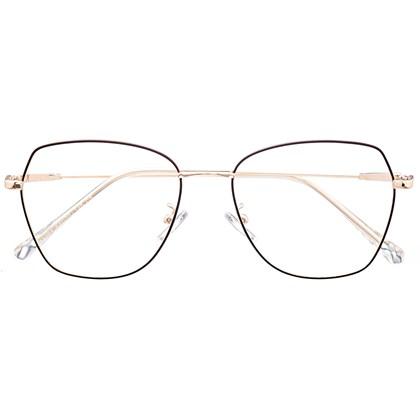 Armação de óculos de grau - Kiara - Preto com dourado C6