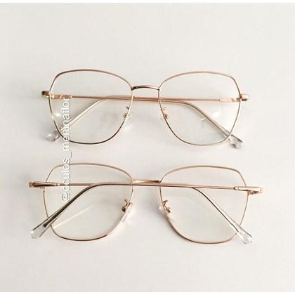 Armação de óculos de grau - Kiara - Rose gold
