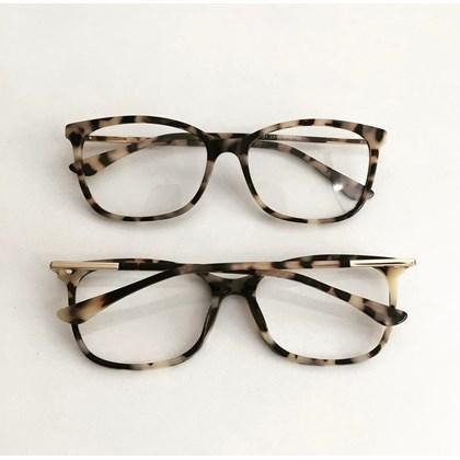 Armação de óculos de grau - Lari 2151 - Animal print Claro C5