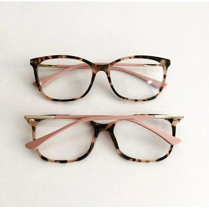 Armação de óculos de grau - Lari 2151 - Animal print haste rose C8
