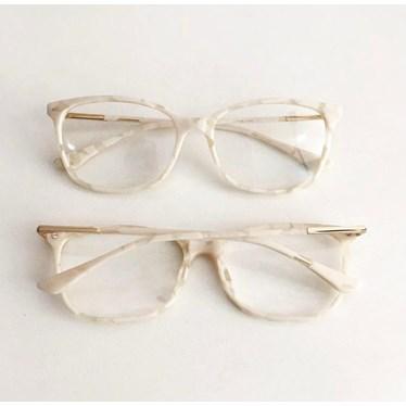 Armação de óculos de grau - Lari 2151 - Madre Pérola Branco