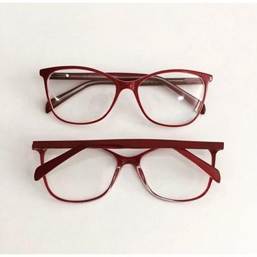 Armação de óculos de grau - Larissa 9606 - Bordo