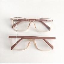 Armação de óculos de grau - Larissa - Dourado transparente haste rose