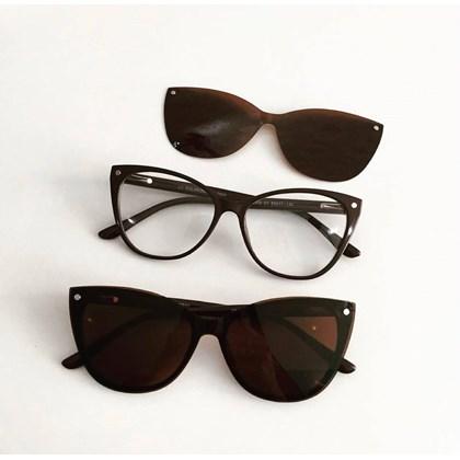 Armação de Óculos de Grau - Laura 5102/6102 - Marrom C1