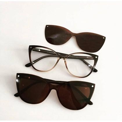 Armação de Óculos de Grau - Laura 5102 - Marrom transparência C3