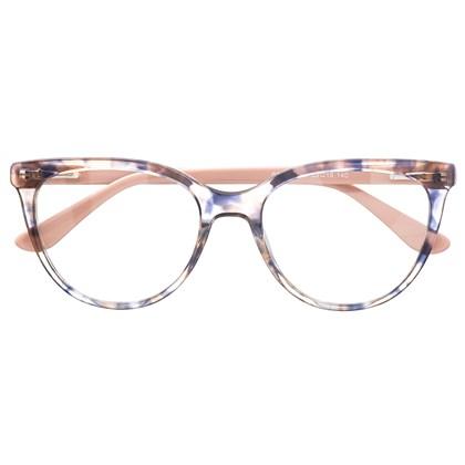 Armação de óculos de grau - Lavínia 5065 - Animal print haste rose