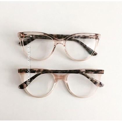 Armação de óculos de grau - Lavínia 5065 - Dourado transparente