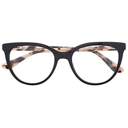 Armação de óculos de grau - Lavínia 5065 - Preto haste animal print