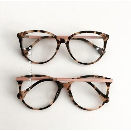 Armação de óculos de grau - Lexa 2145 - Animal print rosado