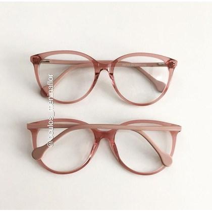 Armação de óculos de grau - Lexa 2145 - Rose Transparência