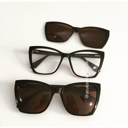 Armação de óculos de grau - Lindsay 8031 - Marrom C2