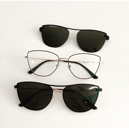 Armação de óculos de grau - Líris 33068 - Preto com dourado