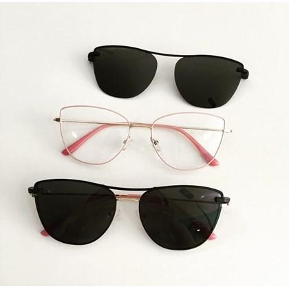 Armação de óculos de grau - Líris 33068 - Rose com dourado