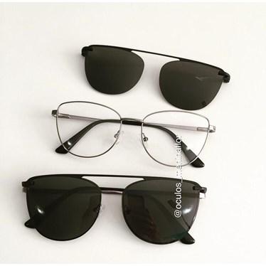 Armação de óculos de grau - Líris - Grafite