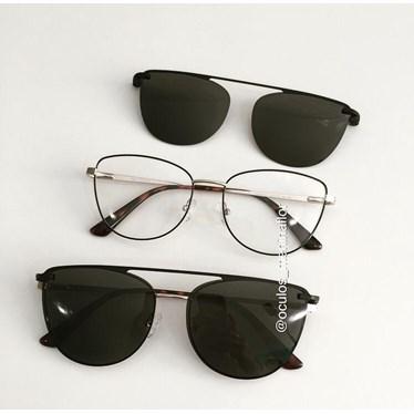 Armação de óculos de grau - Líris - Preto com dourado