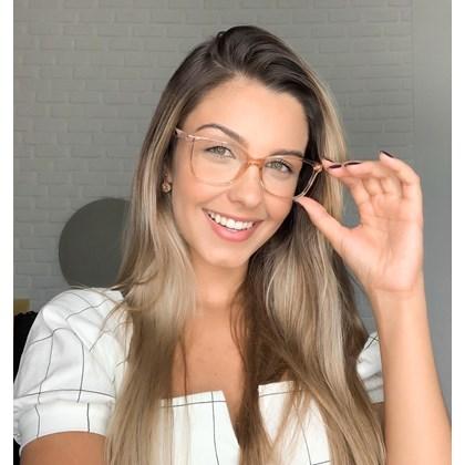 Armação de óculos de grau - Lisiane 3763 - Dourado transparente