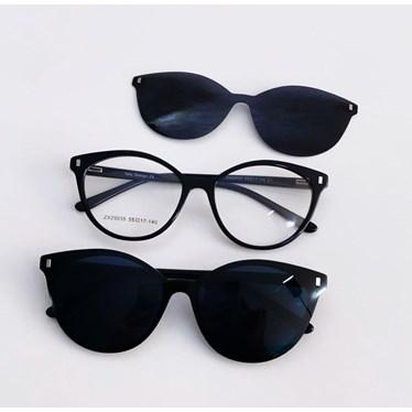 Armação de óculos de grau - Londres 25035 - Preto