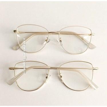 Armação de óculos de grau - Lorenza - Creme
