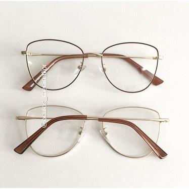 Armação de óculos de grau - Lorenza - Marrom