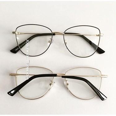 Armação de óculos de grau - Lorenza - Preto