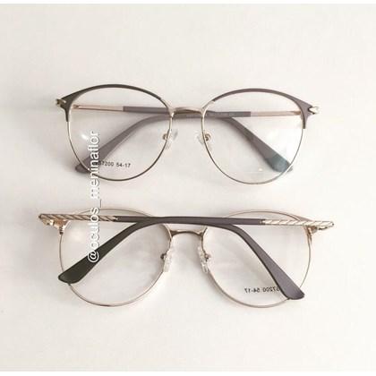 Armação de óculos de grau - Luara 7200 - Azul Candy