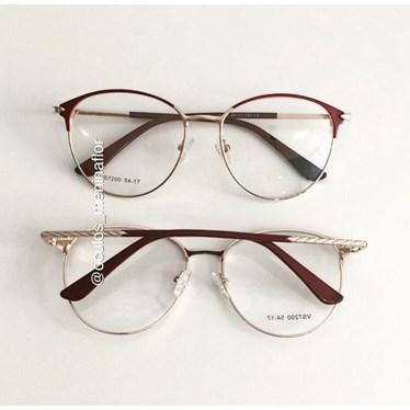 Armação de óculos de grau - Luara 7200 - Vinho