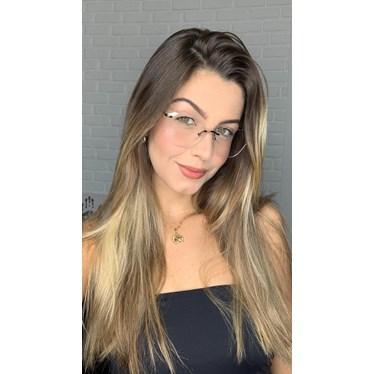 Armação de óculos de grau - Luisa 3 Pontos - Bronze