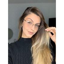 Armação de óculos de grau - Luisa 3 Pontos - Dourado