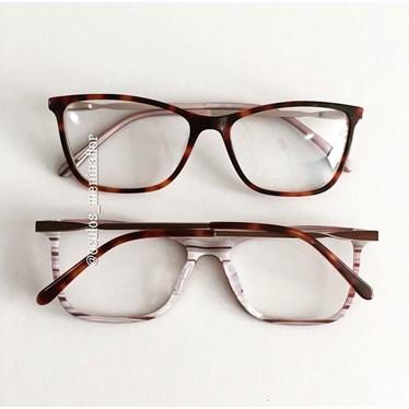 Armação de óculos de grau - Luna - Animal print