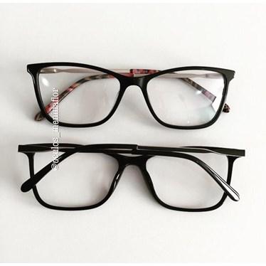 Armação de óculos de grau - Luna - Preto