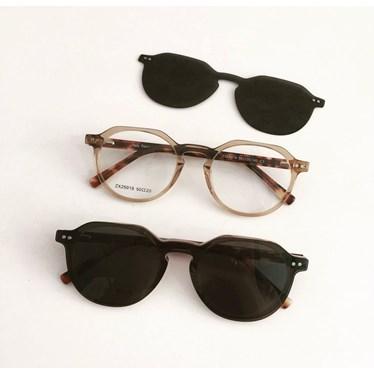 Armação de óculos de grau - Madagascar 25019 - Dourado transparência C3